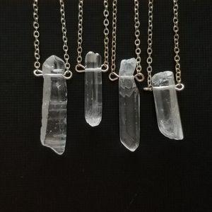 Jewelry - 💜2/$20 Raw Quartz Necklace w/ Silver Chain